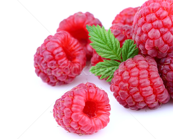 Ripe raspberry in closeup Stock photo © Dionisvera