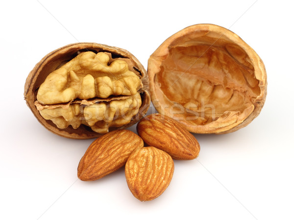 Walnuts with almonds Stock photo © Dionisvera