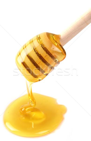 Słodkie miodu żywności drewna spadek płynnych Zdjęcia stock © Dionisvera