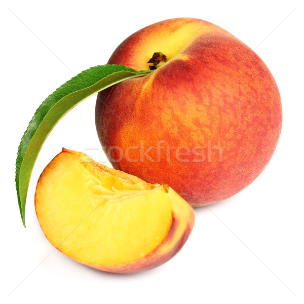 Fresh peach with slice Stock photo © Dionisvera