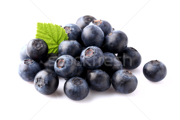 Blueberry with leaf Stock photo © Dionisvera
