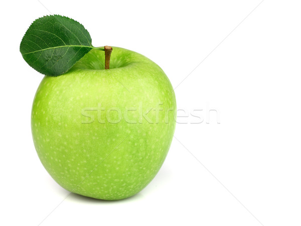 Green apple with leaves Stock photo © Dionisvera