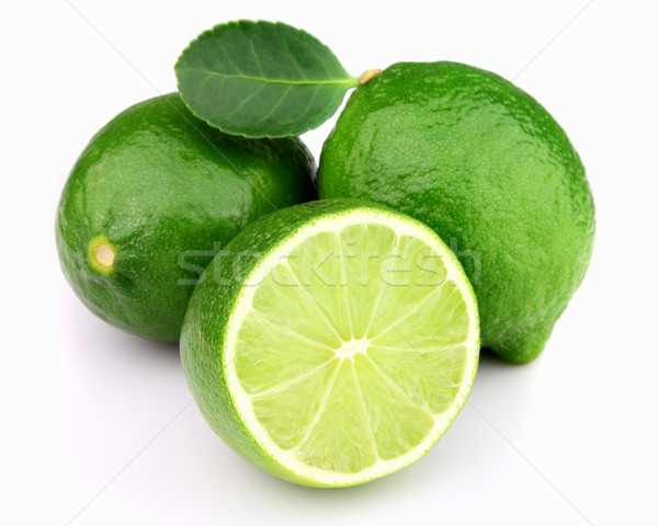 Ripe lime with leaves Stock photo © Dionisvera