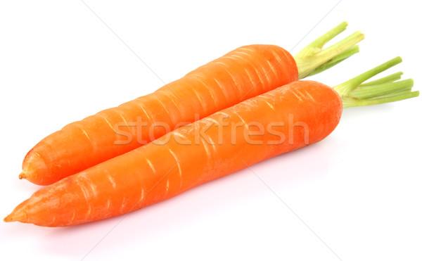 Carottes santé nutrition orange vert Photo stock © Dionisvera