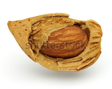 Cut almond Stock photo © Dionisvera