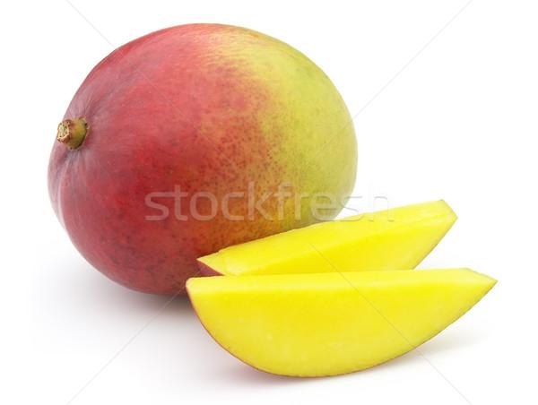 Mango biały owoców zielone czerwony tropikalnych Zdjęcia stock © Dionisvera