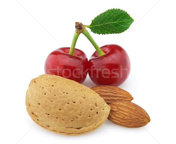 Almonds with cherry Stock photo © Dionisvera