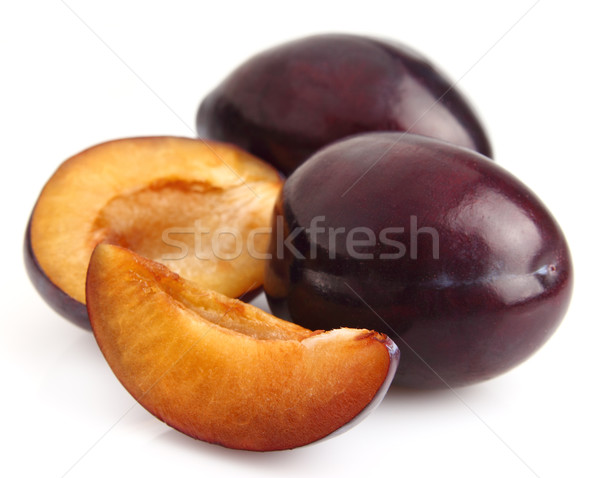 Sweet plums with slices Stock photo © Dionisvera