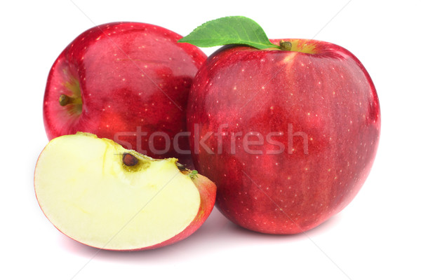 Ripe apples on a white background Stock photo © Dionisvera