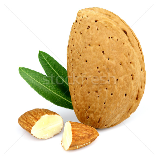 Almond with cut kernel Stock photo © Dionisvera
