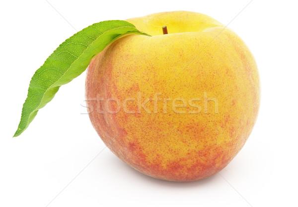 Süß Pfirsich Sommer orange rot weiß Stock foto © Dionisvera