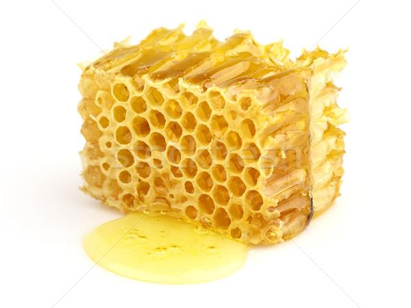 En nid d'abeille blanche nature médecine or abeille Photo stock © Dionisvera