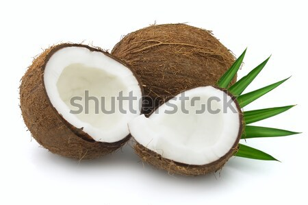 Coco laisse blanche alimentaire nature fruits Photo stock © Dionisvera