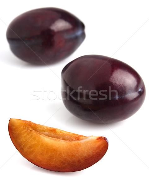 Tatlı erik dilim gıda meyve Stok fotoğraf © Dionisvera
