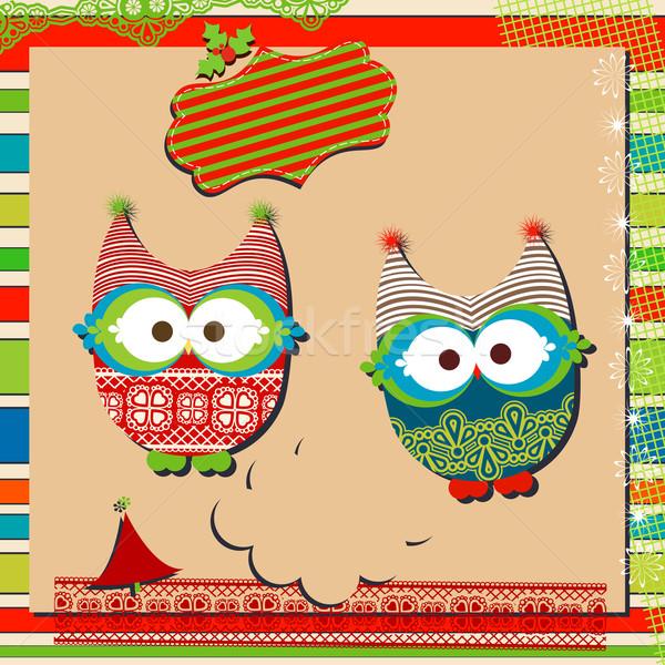 christmas owls Stock photo © dip