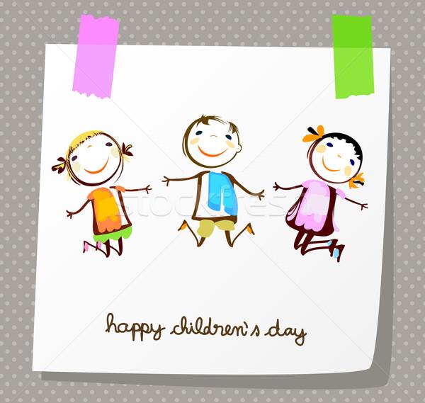 happy childrens day Stock photo © dip