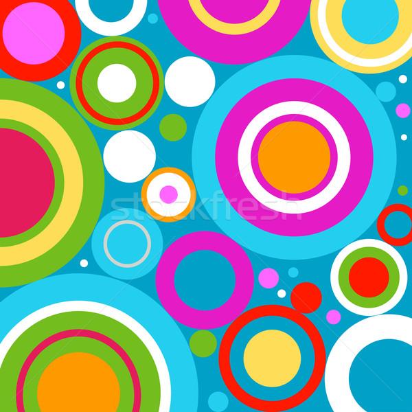 Retro cirkels water ruimte Blauw leuk Stockfoto © dip