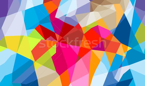 Kleurrijk meetkundig abstract gelukkig ontwerp achtergrond Stockfoto © dip