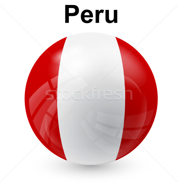 Perú pelota bandera oficial botón mundo Foto stock © dip