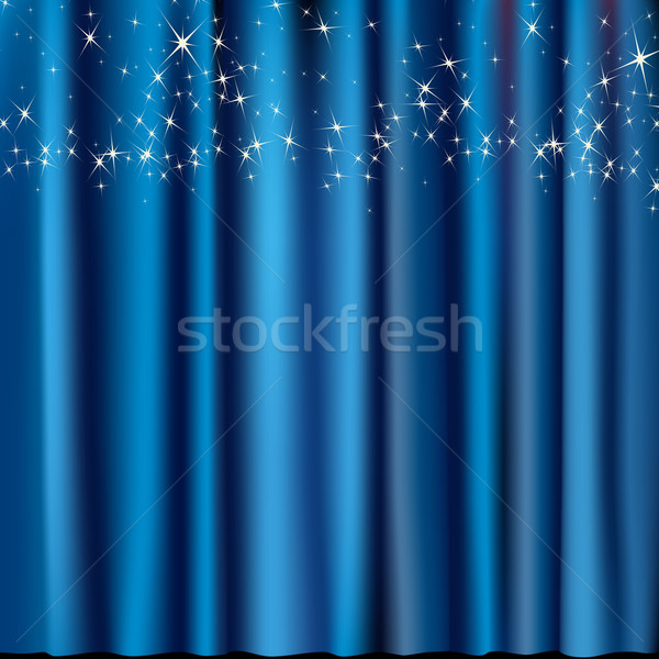blue curtain with stars Stock photo © dip