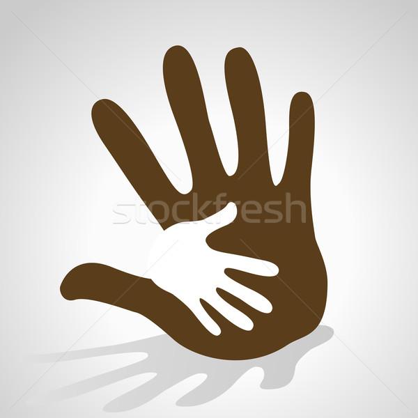 hand helping illustration Stock photo © dip