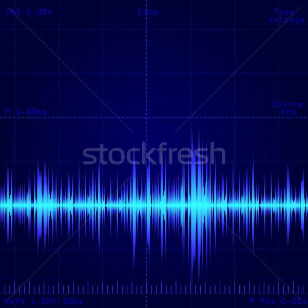 волна сигнала экране свет дизайна Сток-фото © dip