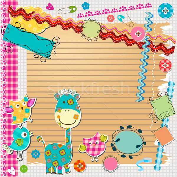 スクラップブック キット かわいい 要素 学校 子供 ストックフォト © dip