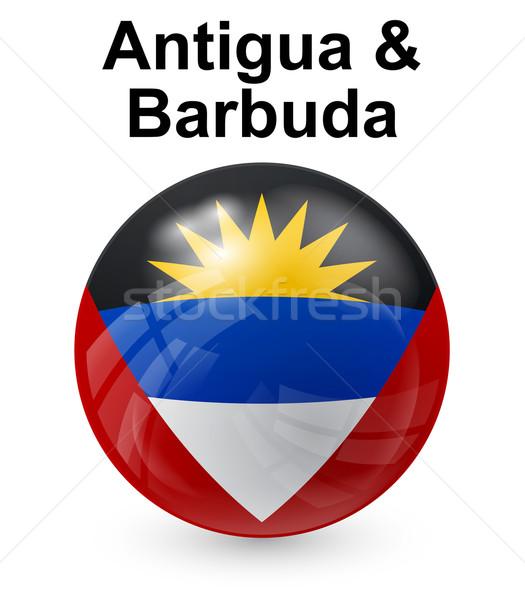 Vlag officieel knop bal wereld teken Stockfoto © dip
