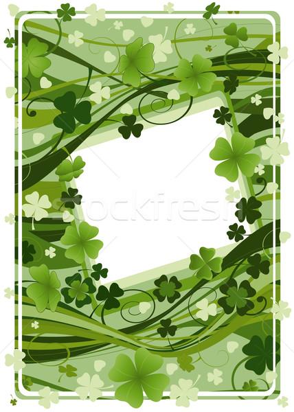 Design jour de St Patrick quatre trois feuille arbre Photo stock © dip