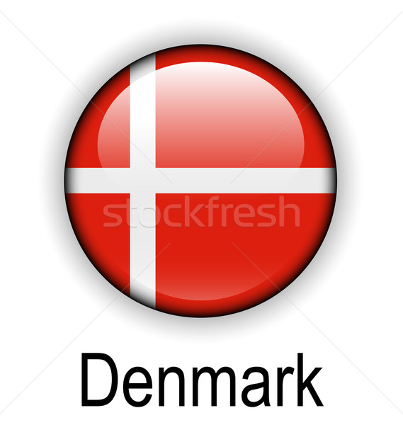 Denemarken vlag ontwerp teken bal Rood Stockfoto © dip
