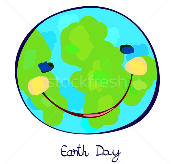 earth planet celebration day, childlike painting Stock photo © dip