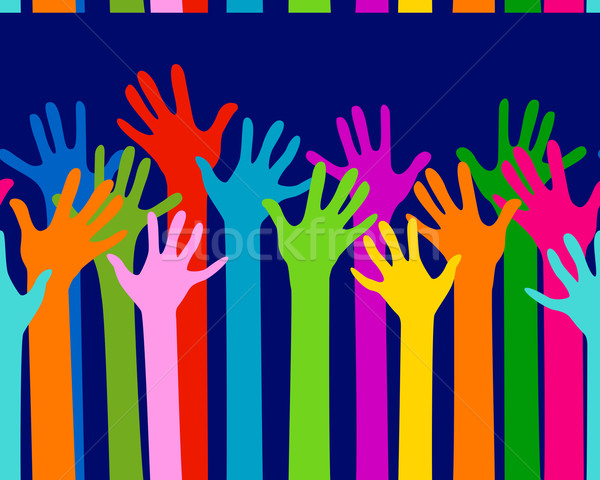 hands together seamless pattern Stock photo © dip