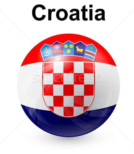Kroatien offiziellen Flagge Design Welt Zeichen Stock foto © dip
