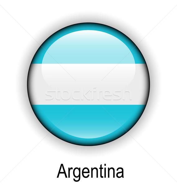 Argentína labda zászló hivatalos gomb nap Stock fotó © dip