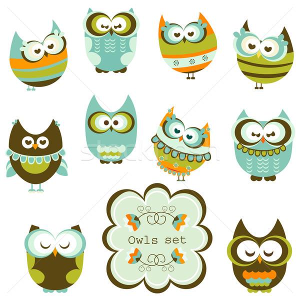 owls set Stock photo © dip
