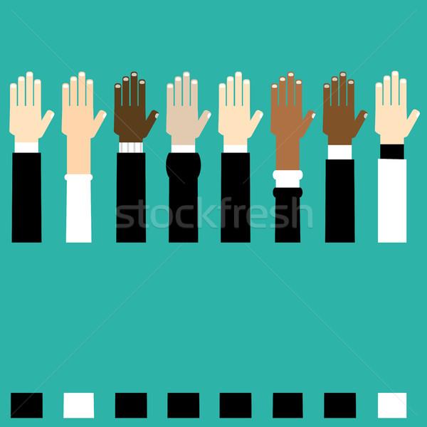 Diversidade mãos ilustração gráfico humanismo Foto stock © dip