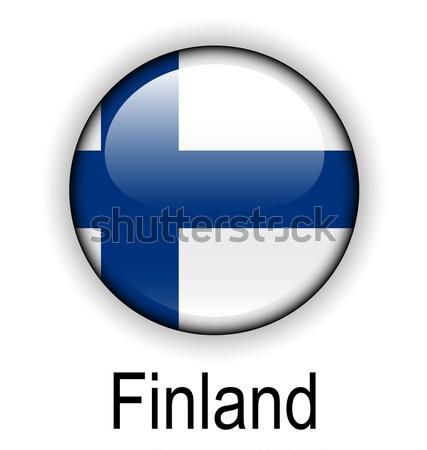 Finlandia bandera diseno signo azul pelota Foto stock © dip