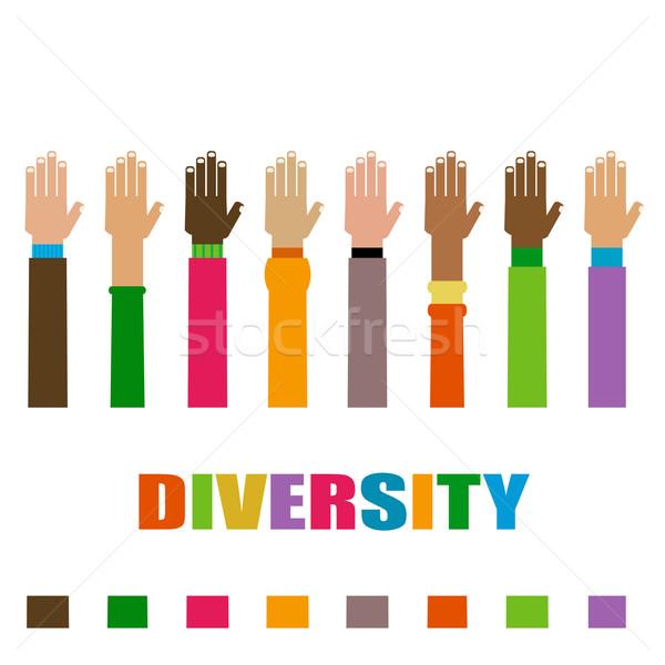 diversity hands raised Stock photo © dip