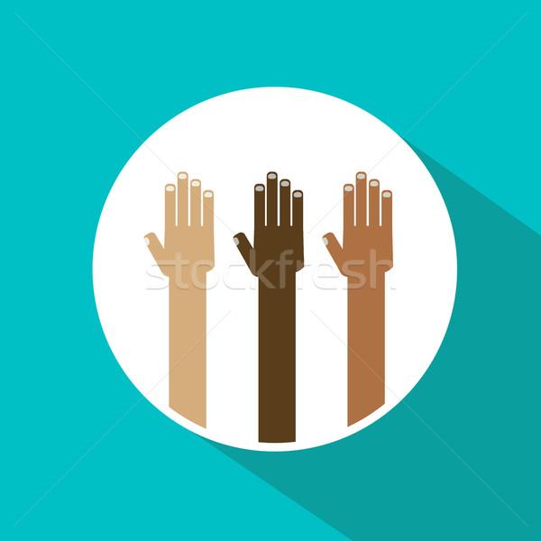 Diversidade mãos ilustração negócio projeto Foto stock © dip