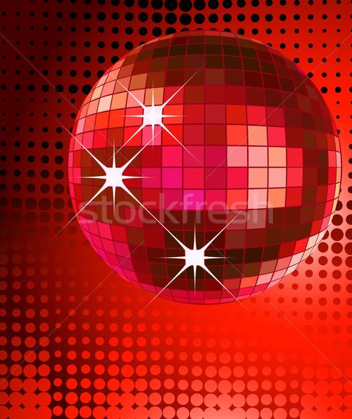 Disco pelota retro fiesta fondo diseno Foto stock © dip