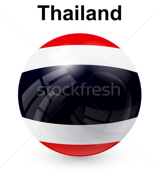 Tailândia oficial bandeira projeto mundo vidro Foto stock © dip