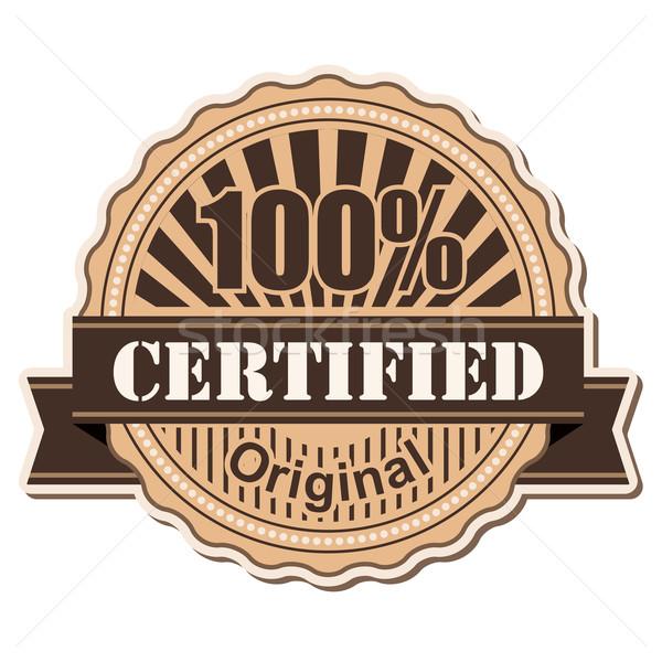 label Certified Stock photo © dip