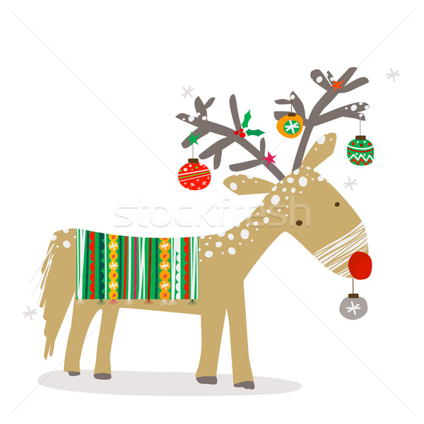 christmas reindeer Stock photo © dip
