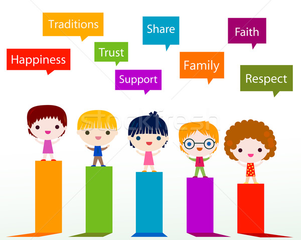 kids values infographic Stock photo © dip