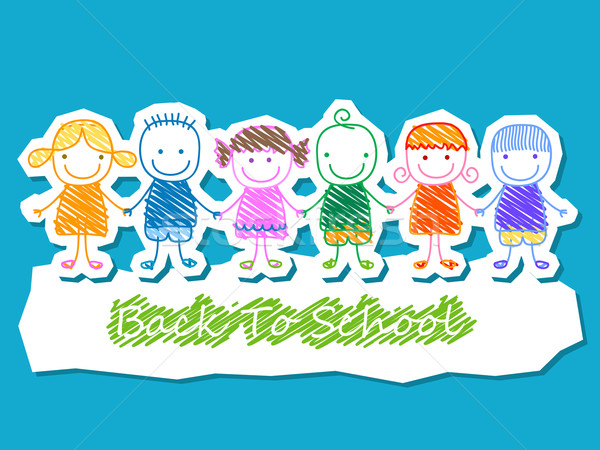 kids group, back to school Stock photo © dip