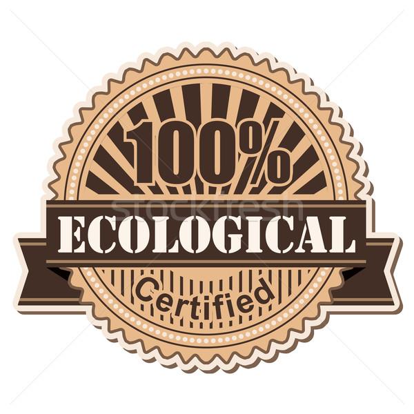 étiquette écologique vintage style design affaires Photo stock © dip