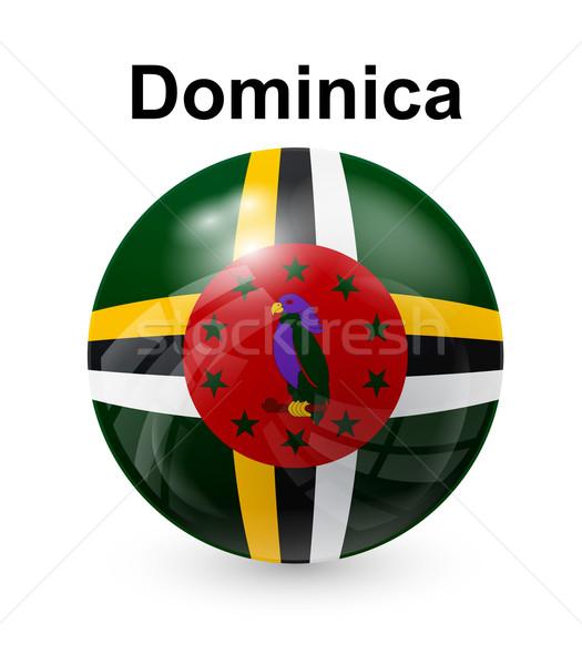 Dominica vlag officieel knop bal wereld Stockfoto © dip
