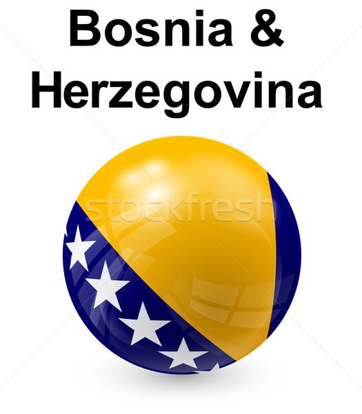 Bosnië-Herzegovina officieel vlag ontwerp wereld glas Stockfoto © dip