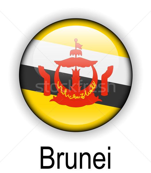 Бруней официальный флаг рук дизайна Мир Сток-фото © dip