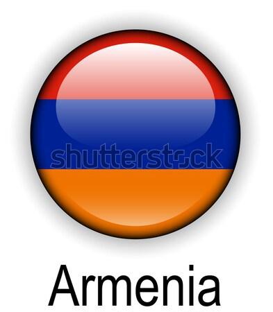 Colombia bal vlag officieel knop ontwerp Stockfoto © dip